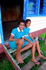 Recess at Tuvuca Island primary school