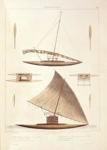 Traditional kalia vessel design; one of the fastest vessels of Polynesian navigation.