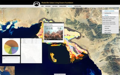 Red Sea Map with Video and Legend