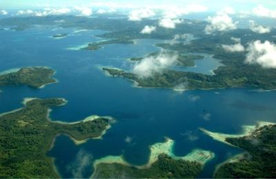 Aerial View of Solomon Islands