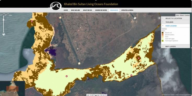 GIS Map Galapagos Seafloor