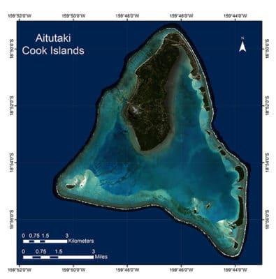 Aitutaki Satellite Image