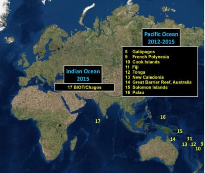 Pacific Indian Ocean GRE sites
