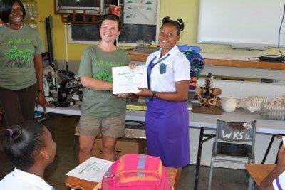 JAMIN award ceremony at Jamaican high school
