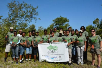 Jamaican high school students at the end of the JAMIN pilot project
