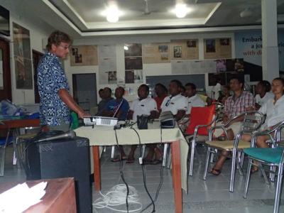 Andy at a staff seminar.
