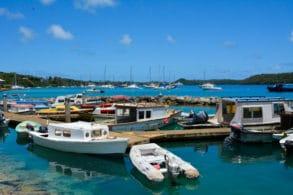 Tongan fishing boats