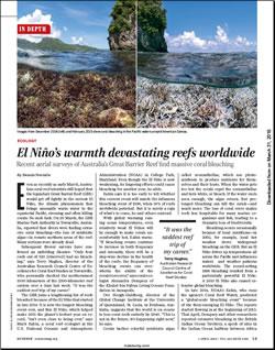 El Niño's warmth devastates reefs worldwide