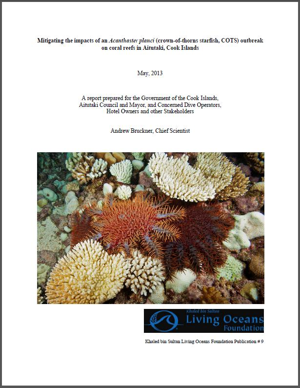 Crown Of Thorns Starfish Cots Living Oceans Foundationliving