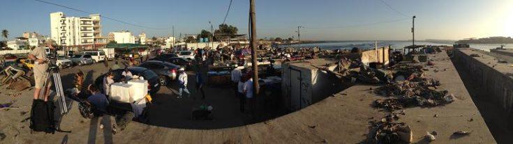 Filming in Dakar
