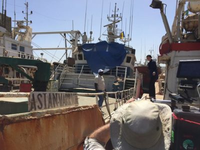 Dr. Belhabib boards the captured Asian Warrior, a notorious illegal fishing vessel, and wonders Why don't they sink it?
