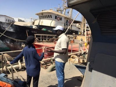 Dr. Belhabib discusses the capture of the illegal fishing boat Asian Warrior with Cheik Fall