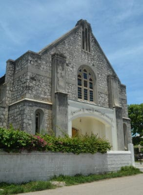 William Knibb Memorial Baptist Church located in the original place in Falmouth.