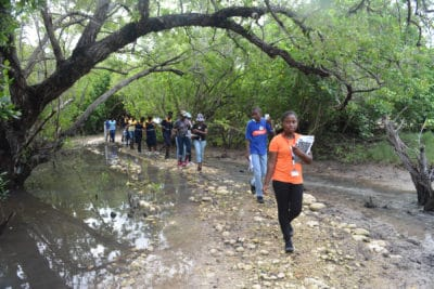 Students from Marcus Garvey Technical School on J.A.M.I.N. field trip atSeville Heritage Park