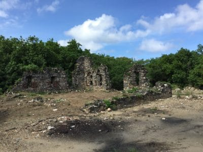 The remnants of the English Warehouse.