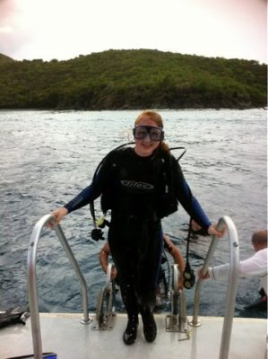 Maggie Dillon scuba diving